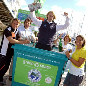 Dee helps launch a recycling campaign
