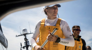 Leg Zero, on board Turn the Tide on Plastic before the Prologue. Photo by Jeremie Lecaudey/Volvo Ocean Race. 14 September, 2017