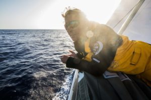 Leg 01, Alicante to Lisbon, day xx, on board Turn the Tide on Plastic. Photo by Jen Edney/Volvo Ocean Race. 25 October, 2017